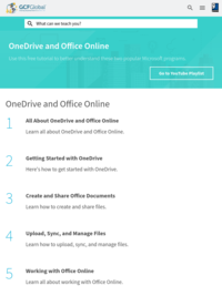 Free OneDrive and Office Online Tutorial at GCFGlobal