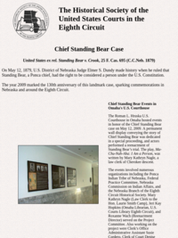 Chief Standing Bear | The Historical Society of the United States Courts in the Eighth Circuit