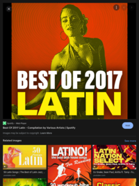Best of 2017 Latin - Varios cantantes   https://www.hoopladigital.com/title/12016800