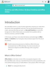 OneDrive and Office Online: All About OneDrive and Office Online