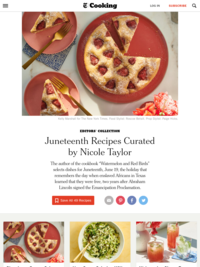 Juneteenth Recipes curated by Nicole Taylor for the NY Times