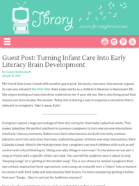 Turning Infant Care into Early Literacy Brain Development