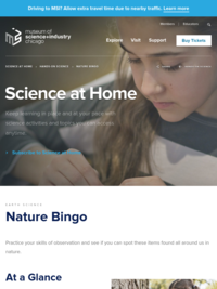 Nature Bingo - Museum of Science and Industry