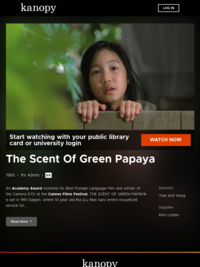 Watch Scent Of Green Papaya now | Kanopy