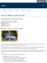 Craft Tutorial - How to Make a Junk Journal