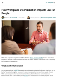 How Workplace Discrimination Impacts LGBTQ People