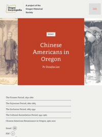 Chinese Americans in Oregon