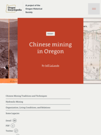 Chinese mining in Oregon