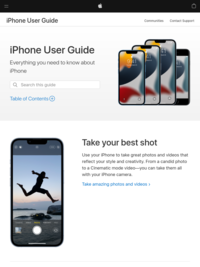 iPhone User Guide - Apple Support