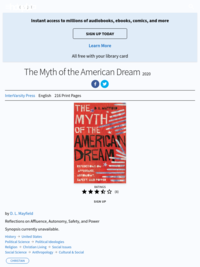 The Myth of the American Dream by D. L. Mayfield