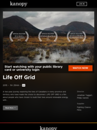 Life Off Grid | Kanopy