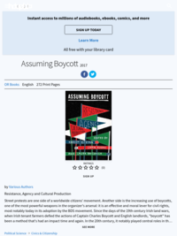 Assuming Boycott: Resistance, Agency, and Cultural Production edited by Estefan, Kuoni, and Raicovich