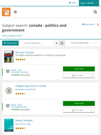 Catalogue search: Canada - Politics and Government