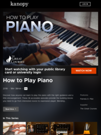 How to Play Piano | Kanopy