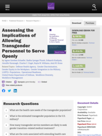 "The website for the RAND report, ""Assessing the Implications of Allowing Transgender Personnel to Serve Openly"""