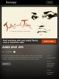 Watch Jules and Jim now | Kanopy