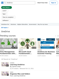 OneDrive - Online Courses, Classes, Training, Tutorials on Lynda (You will need a CMLibrary card to access Lynda.com)
