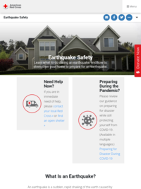 Red Cross: Earthquake Safety