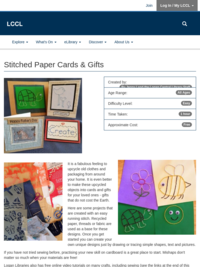 Craft Tutorial - Stitched Paper Cards and Gifts
