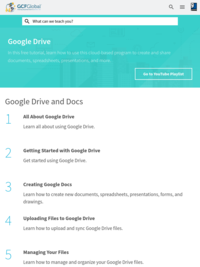 Free Google Drive Tutorial at GCFGlobal