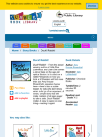 Duck! Rabbit! by Amy Krouse Rosenthal | Tumble Books Library