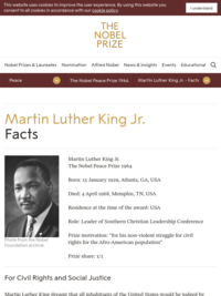 Martin Luther King, Jr. - Official Site of the Nobel Prize