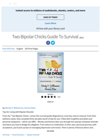 Two Bipolar Chicks Guide to Survival | by Wendy K. Williamson and Honora Rose | ebook | 2014