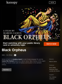 Black Orpheus on Kanopy streaming video