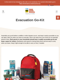 Fire Safe Marin: Emergency Supply Kit