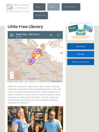 Menlo Park Little Free Libraries - Interactive Map