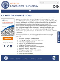 Ed Tech Developer's Guide