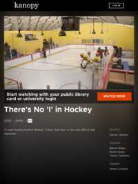 There's No 'I' in Hockey | Kanopy Kids (Series)