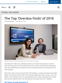 Blog post: The top Overdue Finds of 2018