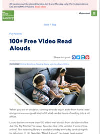 Indianapolis PL- 100+ Free Video Read Alouds