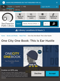 One City One Book - San Francisco Public Library