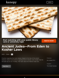 Ancient Judea—From Eden to Kosher Laws | Kanopy