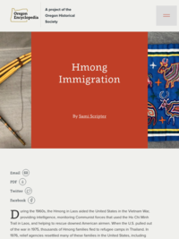 Hmong Immigration