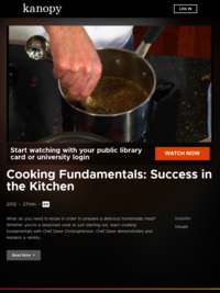 Cooking Fundamentals: Success in the Kitchen | Kanopy
