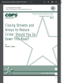 Closing Streets and Alleys to Reduce Crime (government document)