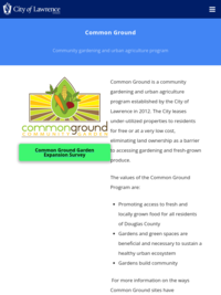 Common Ground Community Garden Program