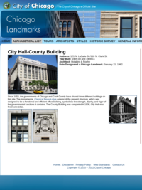 City Hall/County Building - Chicago Landmark Commission
