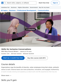 Lynda.com: Skills for Inclusive Conversations.