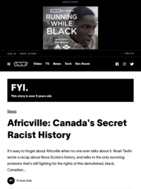 Africville: Canada's Secret Racist History - Noah Tavlin in Vice