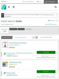 View all 4-5 star rated music CD in the library catalog.