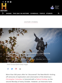 History.com: the Columbus Controversy