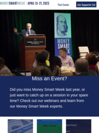 Money Smart Week Events