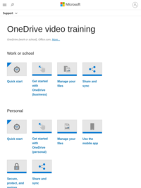 OneDrive video training - Office Support