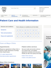 Mayo Clinic Patient Care and Health Information