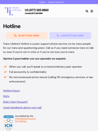 Trans Lifeline's Peer Support Hotline