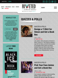 Riveted Lit YA Book Quizzes and Polls